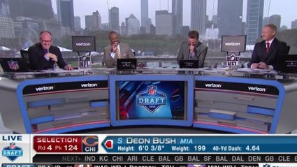 """NFL Hosts Can't Stop Laughing At Their Own """"Beavers & Bush"""" Jokes"""