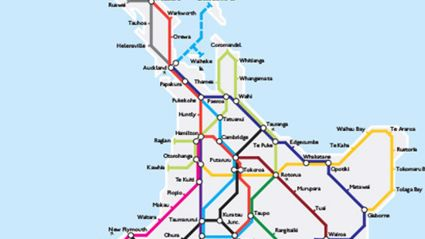 Student Creates London Tube-Style Map Of NZ