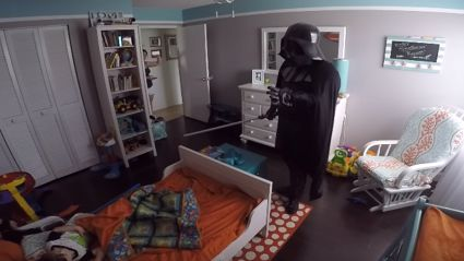 Dad Wakes Up 2-Year-Old Son Dressed As Darth Vader