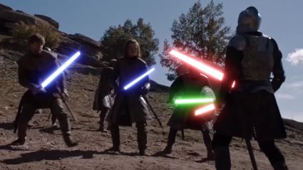 The Tower Of Joy Battle Scene From 'Game Of Thrones' With Added Lightsabers