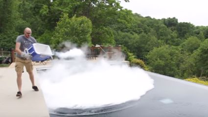 What Happens If You Drop 30 Pounds Of Dry Ice In A Pool?