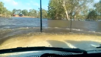 Scary Landcruiser 4x4 Deep Water Crossing In The Aussie Northern Territory