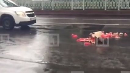 Spilled Dildos Cause Traffic Jam In Russia