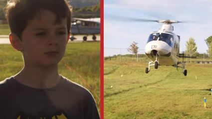 Crazy Dad Uses Helicopter To Pull His Son's Tooth Out