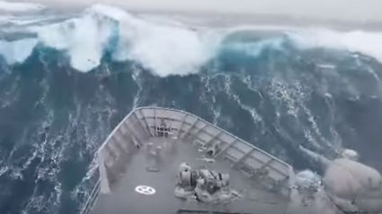 Watch This NZ Navy Ship Go Through A Terrifying Southern Ocean Storm