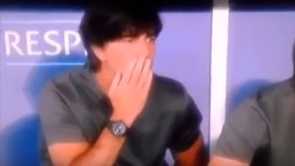 "German Soccer Coach Joachim Löw Caught Smelling His ""Front And Back"" On Live TV"