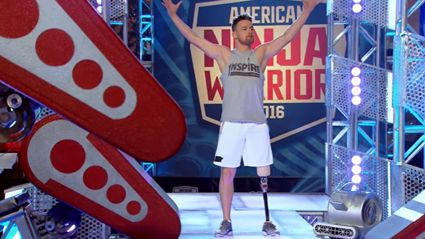 Watch A One-Legged Cancer Survivor's Inspirational Run On The American Ninja Warrior Course