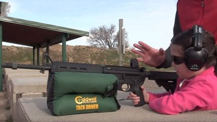 Here's A Video Of A Father Teaching His 7-Year-Old Daughter To Shoot An AR-15 Gun