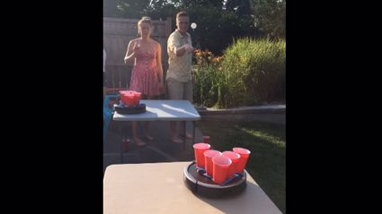 "People Are Now Playing ""Roomba Beer Pong"""