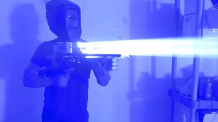 HOLY SH*T! This Guy Made A 200W Lazer Bazooka