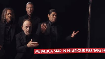 Metallica Star In Hilarious Piss Take Fashion Ads
