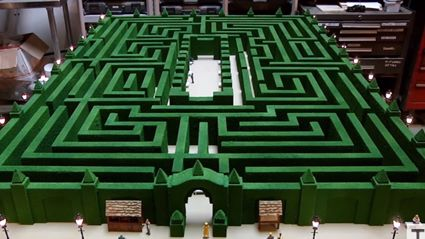 Adam Savage's Overlook Hotel Maze Model