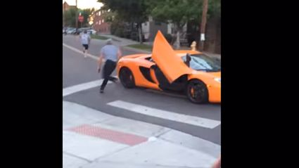 Watch A Skateboarder Smash The Windscreen Of A $250,000 McLaren