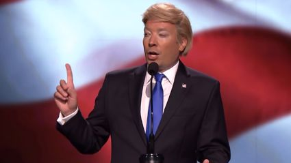 Jimmy Fallon Impersonates Donald Trump's NRC Speech