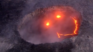 Volcano Creates Giant Smiley Face Of Lava Because Nature Is Awesome