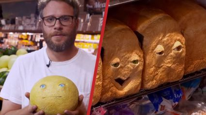 """Seth Rogen Pranks People With Fake """"Real Life"""" Food In The Supermarket"""