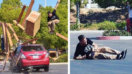 Watch Steve-O Break Both Of His Legs Jumping Over A Car Off A Port-A-Loo