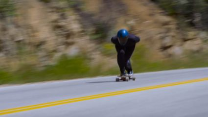 Guy Breaks World Record For Fastest Speed On A Skateboard