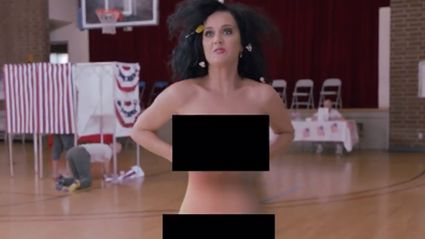 Katy Perry Is Doing Anything To Get People To Vote Including Getting Naked