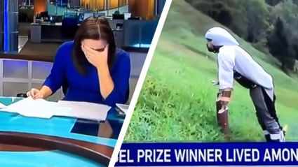 News Anchor Loses It Talking About Guy Who Lived With Goats