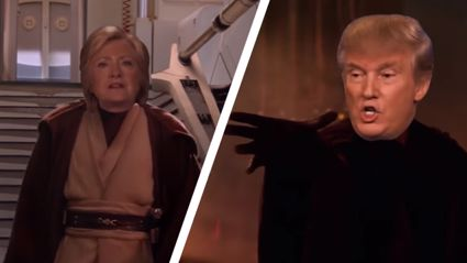 Hilary Clinton Vs Donald Trump - Star Wars Version