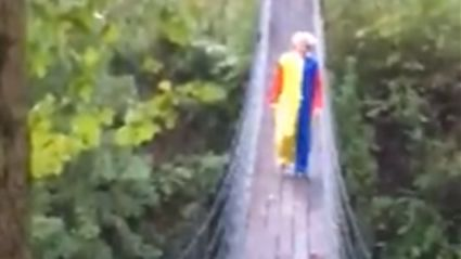 Here's Another Video Of A Creepy Clown Stalking People With A Knife