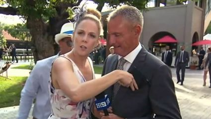 Wasted Good Samaritan Gives Hilarious TV Interview At Melbourne Cup