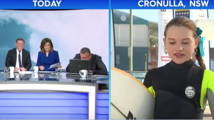 11-Year-Old Surfer Gives Hilarious Interview With Karl Stefanovic