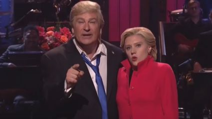 Alec Baldwin & Kate McKinnon Break Character On SNL