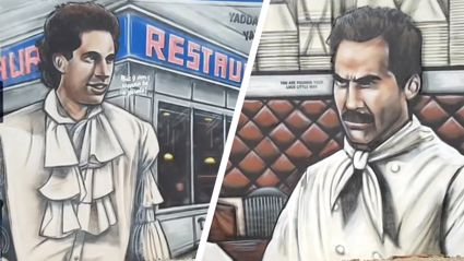 This 'Seinfeld' mural in Aussie is AMAZING!!!