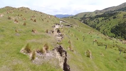 Unbelievable drone footage of Kekerengu Fault rupture