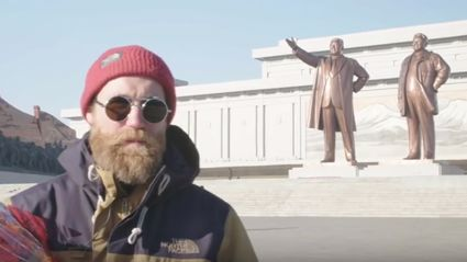 Kiwi Skier Sam Smoothy goes skiing in North Korea