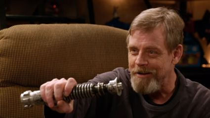 Watch Mark Hamill get reunited with his Return of the Jedi Lightsaber