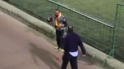 Two dads get into epic fist fight at kids football match