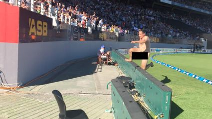 Watch and listen to the ACC's call of the Eden Park streaker