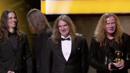 Grammys epic fail by playing Metallica during Megadeth acceptance speech