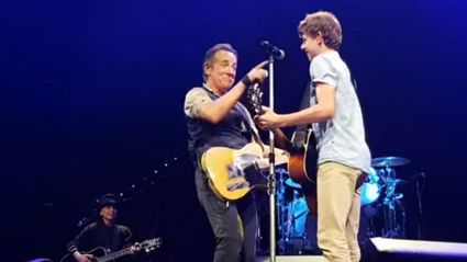Aussie kid joins The Boss onstage steals show during Brisbane gig