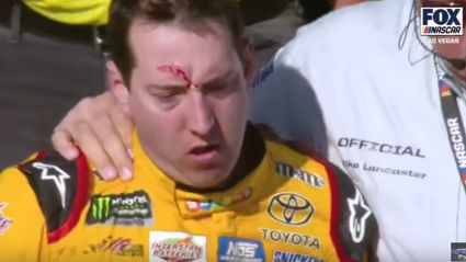 There was a good old fist fight at the NASCAR today!