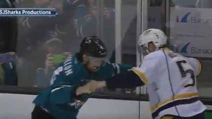 Even while fighting NHL players are super polite