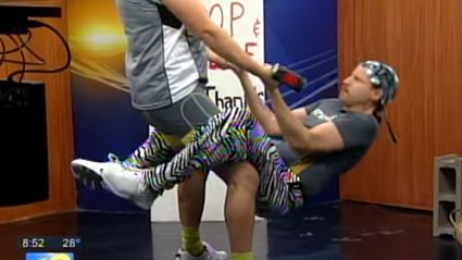 Fake strongman trolls terrible Breakfast TV shows