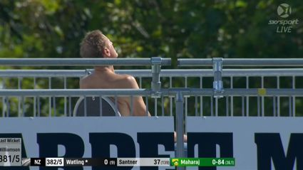 What was Jeremy Coney doing getting naked during the Test?