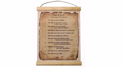 Matt & Jerry Homewares - 11 Commandments Wall Chart