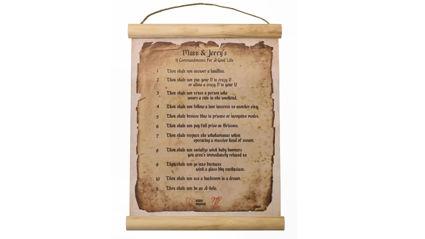 Matt & Jerry Homewares - 11 Commandments Wall Chart