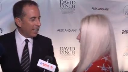 Kesha tried to hug Jerry Seinfeld and things got very awkward