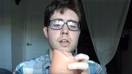 Guy reviews the latest 'P*ssy Pocket' fleshlite not knowing what it is