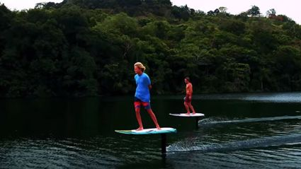 These new and improved surfboards that glide above the water are freaking insane