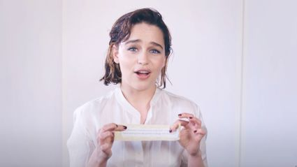Watch Emilia Clarke reading 'Game of Thrones' fan theories
