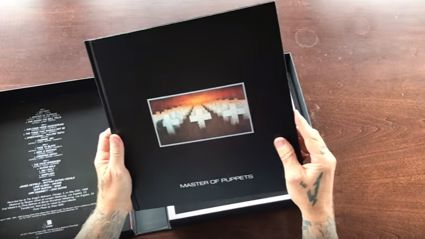 Watch James Hetfield unboxing the deluxe edition of Master of Puppets
