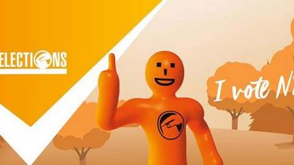 Matt Heath: Forget It, Orange Election Guy freaks me out