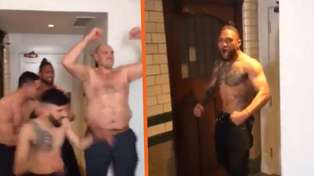 Fury's team caught celebrating and doing Haka with Joseph Parker